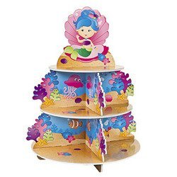 Mermaid Cupcake Stand 10 in 1 fondant cake decorating flower modelling tool set multicolored