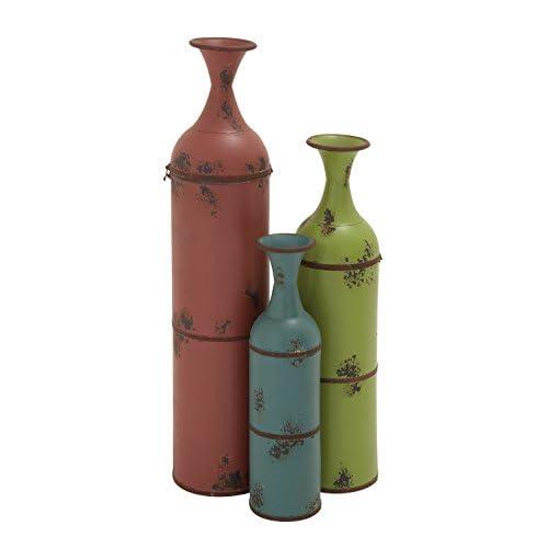Tall Metal Vases