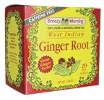 Breezy Morning Herb Tea West Indian Ginger Root -- 20 Tea Bags