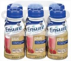 Ensure Plus Nutrition Drink Strawberry Bottles 24 X 8Oz Case