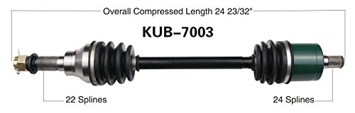 Kubota Rtv Rear Axle : Kubota rtv atv utv new cv axle shaft assembly