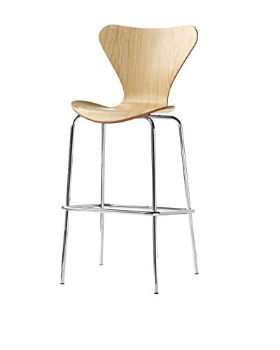 Manhattan Living Jays Bar Stool Chair, Natural