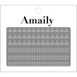 アメイリーネイルシール Amaily ネイルシール No.5ー6 ギンガムチェック 白