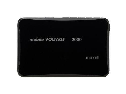 maxell モバイル充電バッテリー「mobile VOLTAGE」 2000mAh ブラック MLPC-2000BK