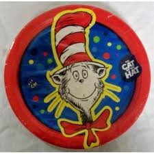 Dr Seuss the Cat in the Hat Lunch Plates