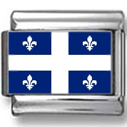 Quebec, Canada Flag Photo Italian Charm