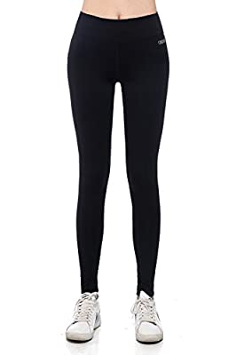Osiana Women's Active Running Yoga Pants Tights Workout Fitness Leggings Capri