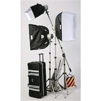 JTL TL-1500 Everlight Boom Kit with 2 Everlights, 1 Everlight Head, 3 500 watt Bulbs, Stands, Boom Kit, Soft Boxes & Cases