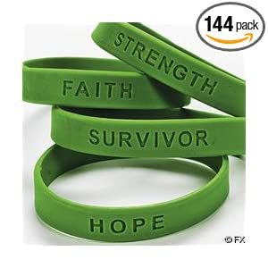 PINK RIBBON HOPE FAITH STRENGTH COURAGE SILICONE BRACELET - WHOLESALE