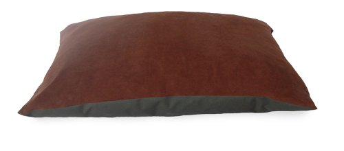 Nap Pet Bed Suede And Oxford Pet Pillow Bed, Espresso, 27-Inch By 36-Inch front-546801