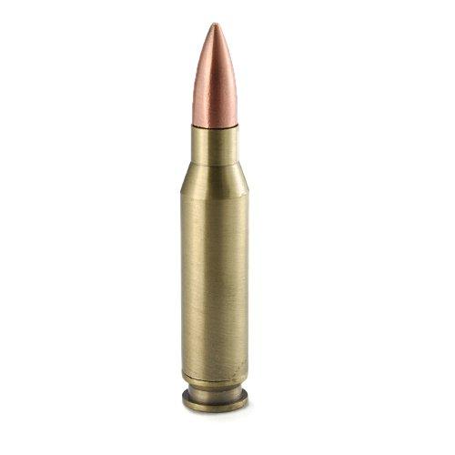 Novelty Machine Gun Long Range 7.7mm Rifle Brass Ammunition Bullet With Copper Head Cigar Cigarette Butane Lighter