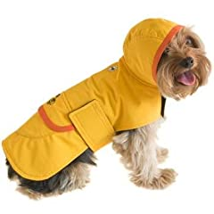Boneheads Waterproof Raincoat for Dogs Small, Small, Color:Yellow