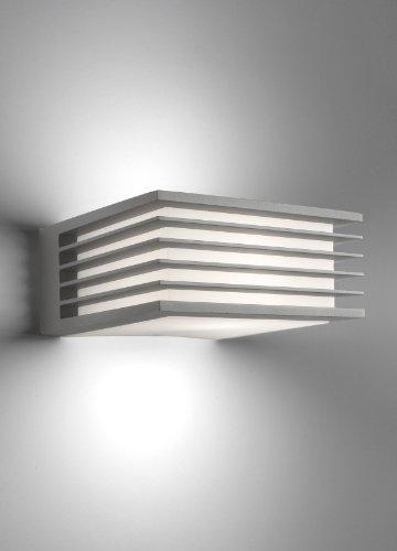 Philips Shades Lampada da Parete da Esterno, Alluminio Grigio, Lampadina RE 1...