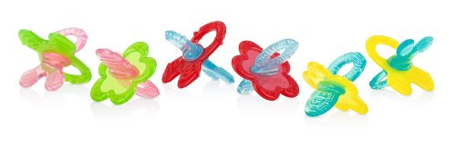 Nuby Chewbies Silicone Teether, Blue Red - 1