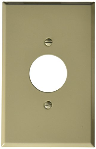 Morris 83753 Painted Steel Wall Plate, Oversize Single Receptacle, 1 Gang, 1.406