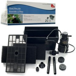 Beckett small underground pond pump filter kit 400 gallons for Small pond pump filter combo