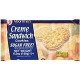 Voortman Creme Sandwhich Cookies Sugar Free (2 Packages of 16 Cookies)