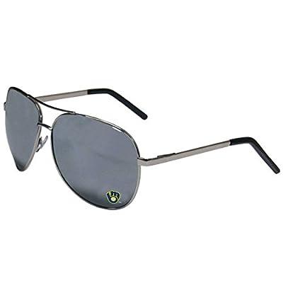 MLB Milwaukee Brewers Aviator Sunglasses