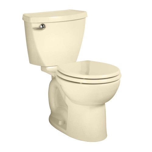American Standard 270Bb001.021 Cadet 3 Right Height Round Front Two-Piece Toilet With 10-Inch Rough-In, Bone front-750002