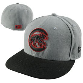 Cap Cubs Walking Bear Red Outline 59/50
