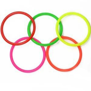 Cosmos 10 pcs Small Size Plastic Toss Rings for Speed and Agility Practice Games - 1