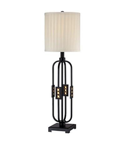 Lite Source Topaz 1-Light Table Lamp, Black