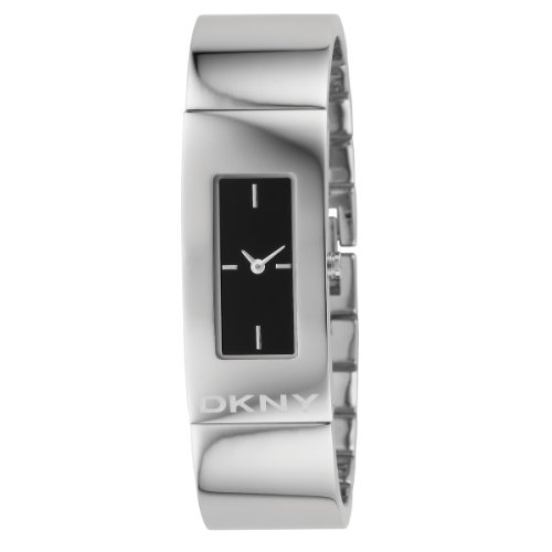 DKNY Ladies Stainless Steel Bangle Watch With Black Dial