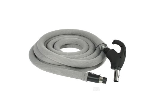 Cen-Tec Systems 99713 Central Vacuum 35 Foot Universal Connect Low Voltage Hose with Hose Sock and Button Lock Stub Tube (Vac Hose Sock compare prices)