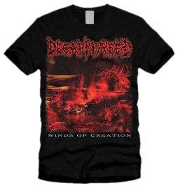 Decapitated T-shirt (Winds Of Creation) black Medium