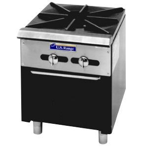 """Natural Gas Garland Sp-1844-2 Double Countertop Stock Pot Stove With 6"""" Legs"""