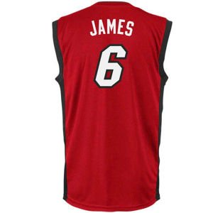 NBA adidas LeBron James Miami Heat Revolution 30 Performance Jersey - Red (Large)