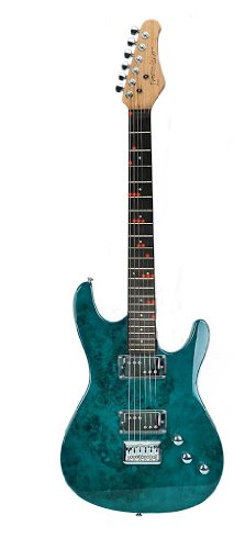Fretlight Pro Electric Guitar With Built-In Led Lighted Learning System, Teal Blue (Fg-561Teb)