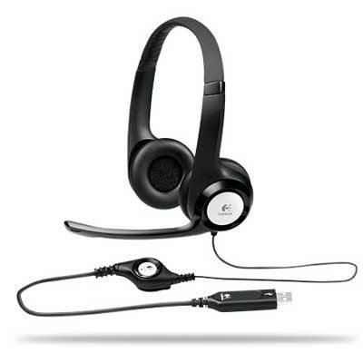 Logitech Clearchat Comfort Usb Headset, W/ Noise Canceling Microphone