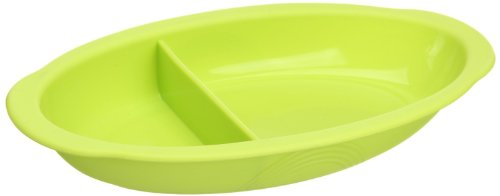 Lexnfant Silicone Baby Oval Plate - Green