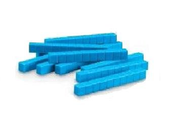 School Smart - Base Ten Components - Plastic Rods 1 x 1 x 10 cm - Pack of 50