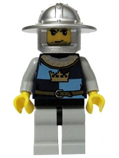 Crown Knight 37 - LEGO Castle Minifigure - 1