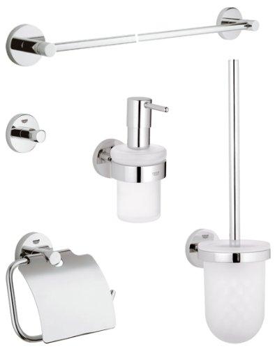 Grohe 40447000 bicchiere porta spazzolini con supporto - Grohe accessori bagno ...