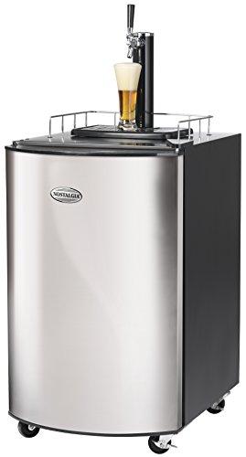 Nostalgia KRS2150 Full Size Kegorator Stainless Steel Draft Beer Dispenser