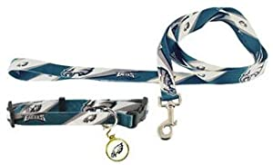 Philadelphia Eagles Dog Collar Leash and ID Tag Set Size Medium by Hunter