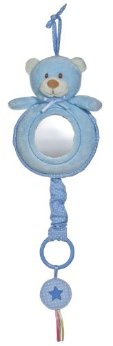 Aurora Baby Bear Musical Pull Toy, Blue