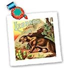 TNMPastPerfect Animals - Vintage Leopard Tobacco Label Artwork - Quilt Squares - 25x25 inch quilt square