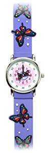 The Butterfly Effect (Purple Band) - Gone Bananas Analog Girls' Waterproof Watch with Animated Butterflies for Second Hand - 3 ATM Water Resistant