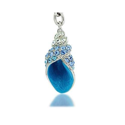 Seashell Keychain With Swarovski Crystal Rhinestones