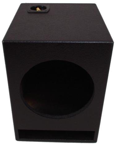"Asc Single 15"" Subwoofer Universal Fit Vented Port Sub Box Speaker Enclosure - Armor Coated"