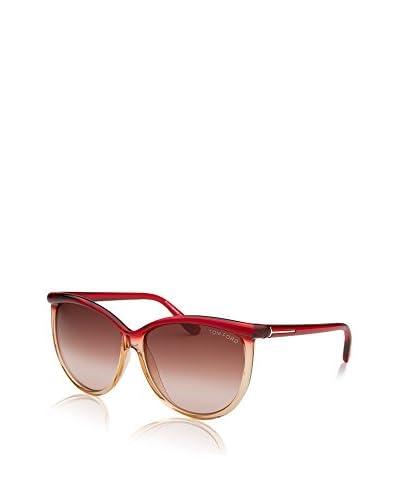 Tom Ford Gafas de Sol Ft296 68F 60 (60 mm) Rojo / Marrón