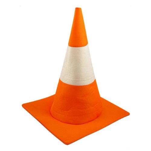 [Adults Orange Road Traffic Cone Hat Funny Stag Night Fancy Dress Costume by Henbrandt] (Road Cone Costume)