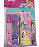 Disney Stationery Set, Princesses - 11 Pieces (Assorted Designs)