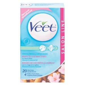 VEET Facial Wax Strips: 20 Count