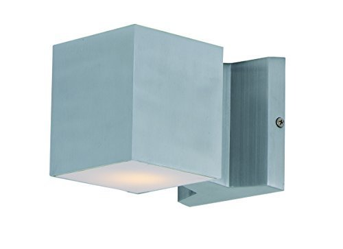 Maxim Lighting 86107 Lightray Led Outdoor Wall Mount, Brushed Aluminum Finish, 4 By 4-inch By Maxim Lighting