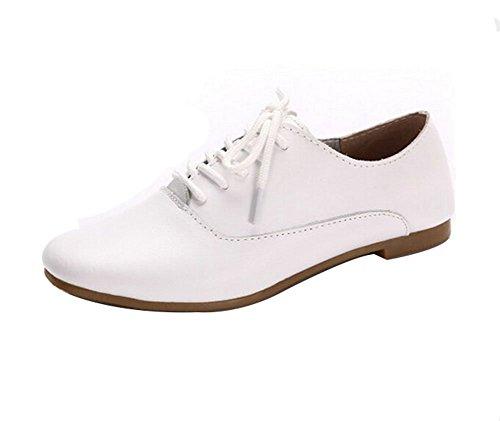 5Sheepgs Women Leather Oxford Flats Shoes Moccasins Ballet Flats